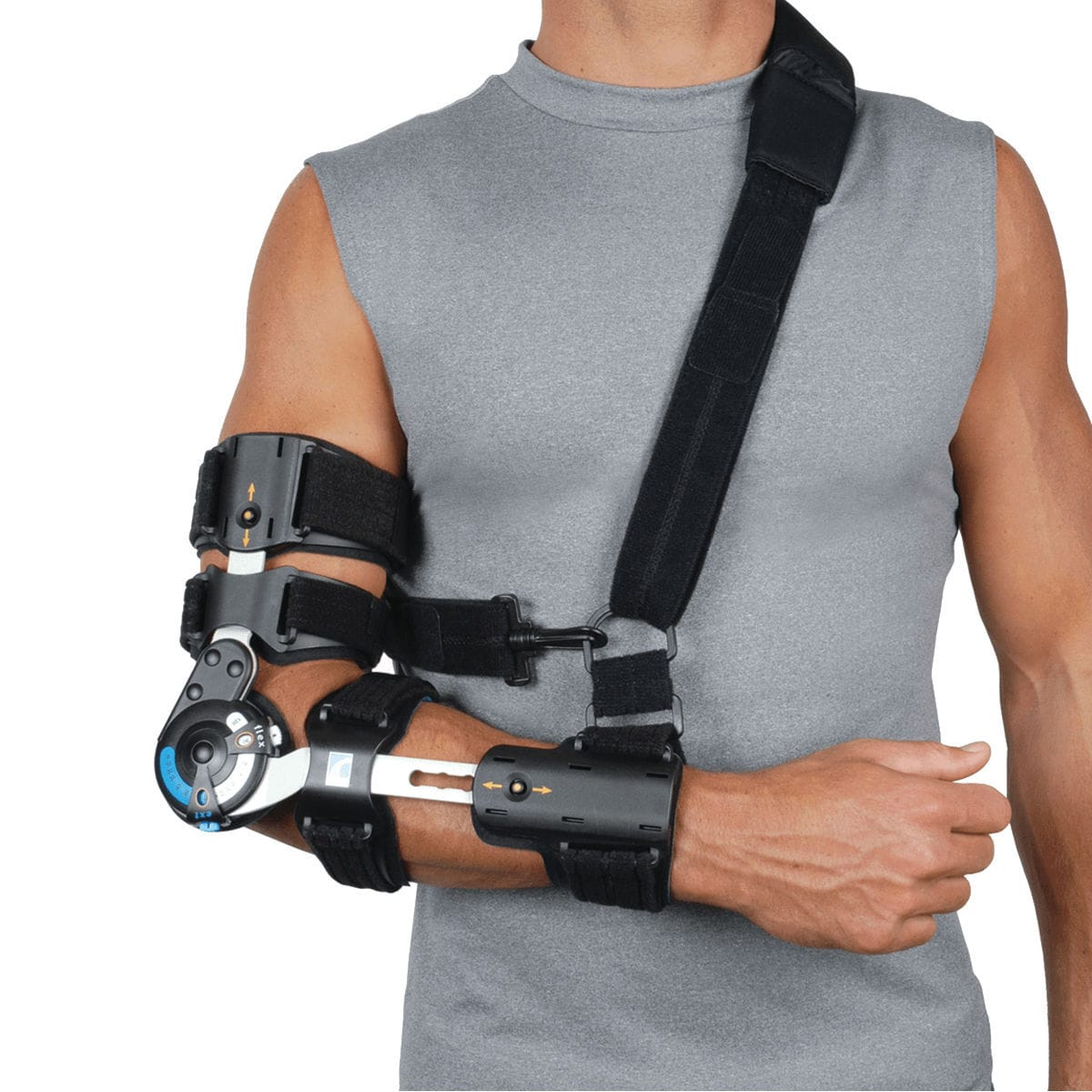 Elbow orthosis (orthopedic immobilization) / articulated